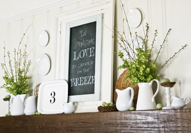 the lettered cottage spring mantel