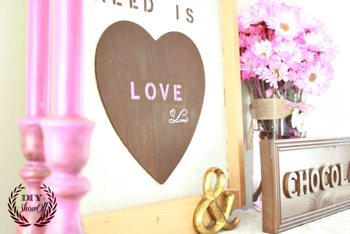 Valentine Mantel {and thrifty treasure DIY} - DIY Show Off ...