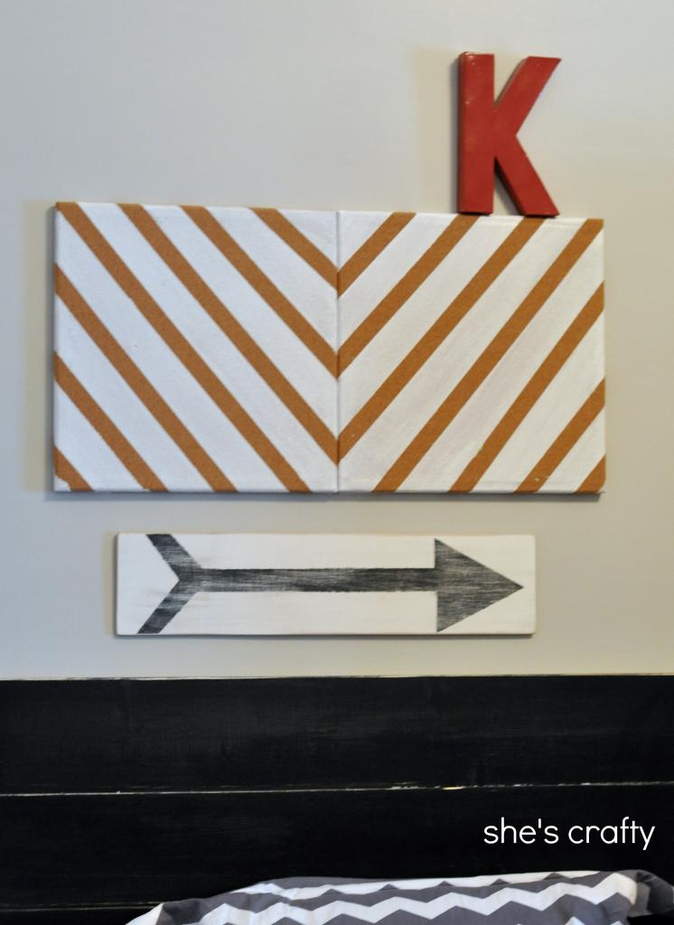 diy-arrow-art by she'scrafty
