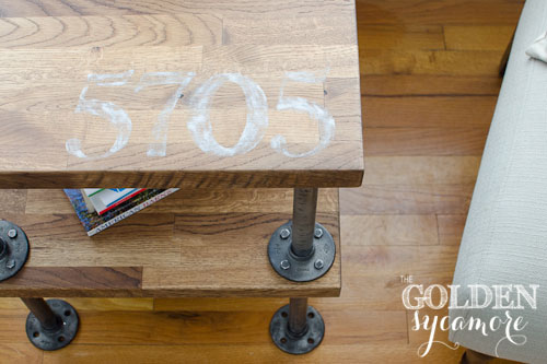 numbered-industrial-table by the Golden Sycamore
