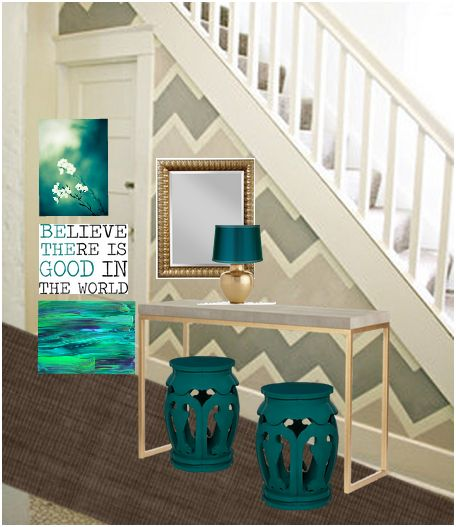 teal-gray-entryway