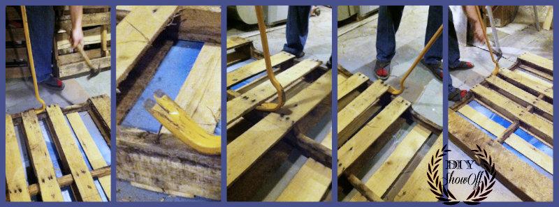 поддев-паллет древесины