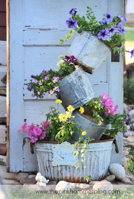 tipsy-pot-planter