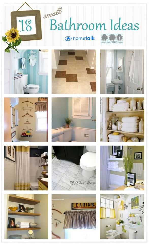 Small bathroom inspiration diy show off diy decorating and home improvement blogdiy show - Bathroom design small spaces pictures decoration ...
