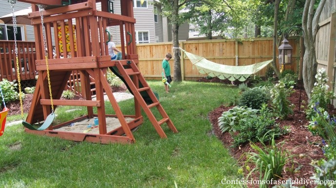 backyard before and after by Confessions of a Serial DIYer