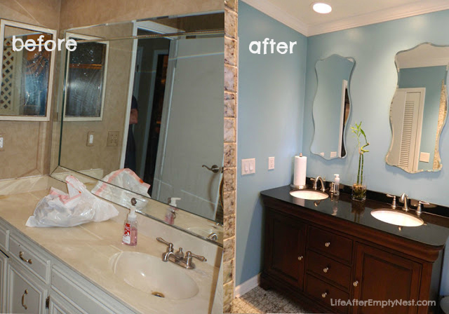 bathroom-makeover-by life after empty nest blog