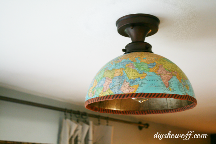 Diy globe light fixturediy show off diy decorating and home globe ceiling light cover aloadofball Gallery