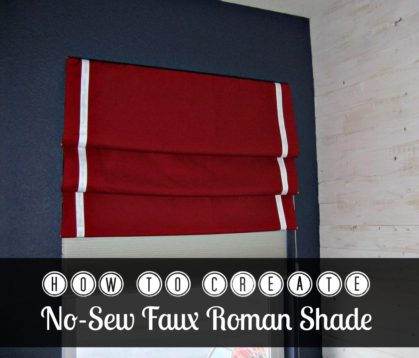 how to no sew faux roman shade