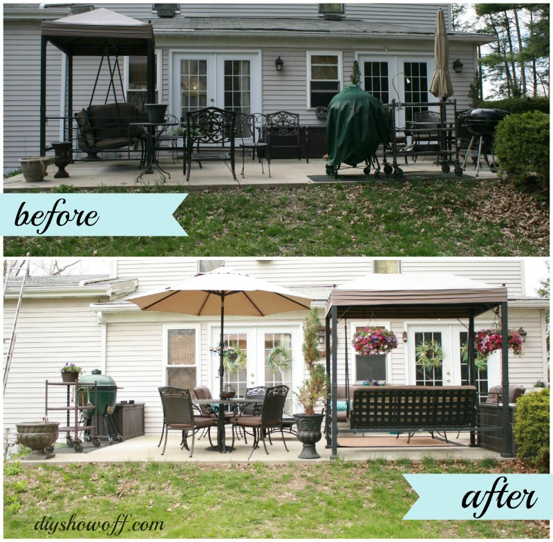 Backyard Transformation Before After: Patio MakeoverDIY Show Off ™