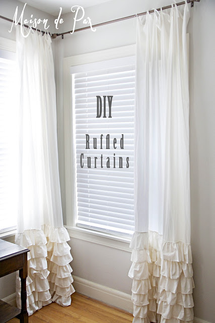 ruffled curtains  by Maison de Pax