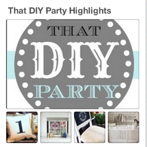 that diy party pinboard