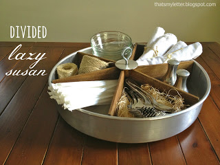 DIY PB inspired lazy susan at That's My Letter