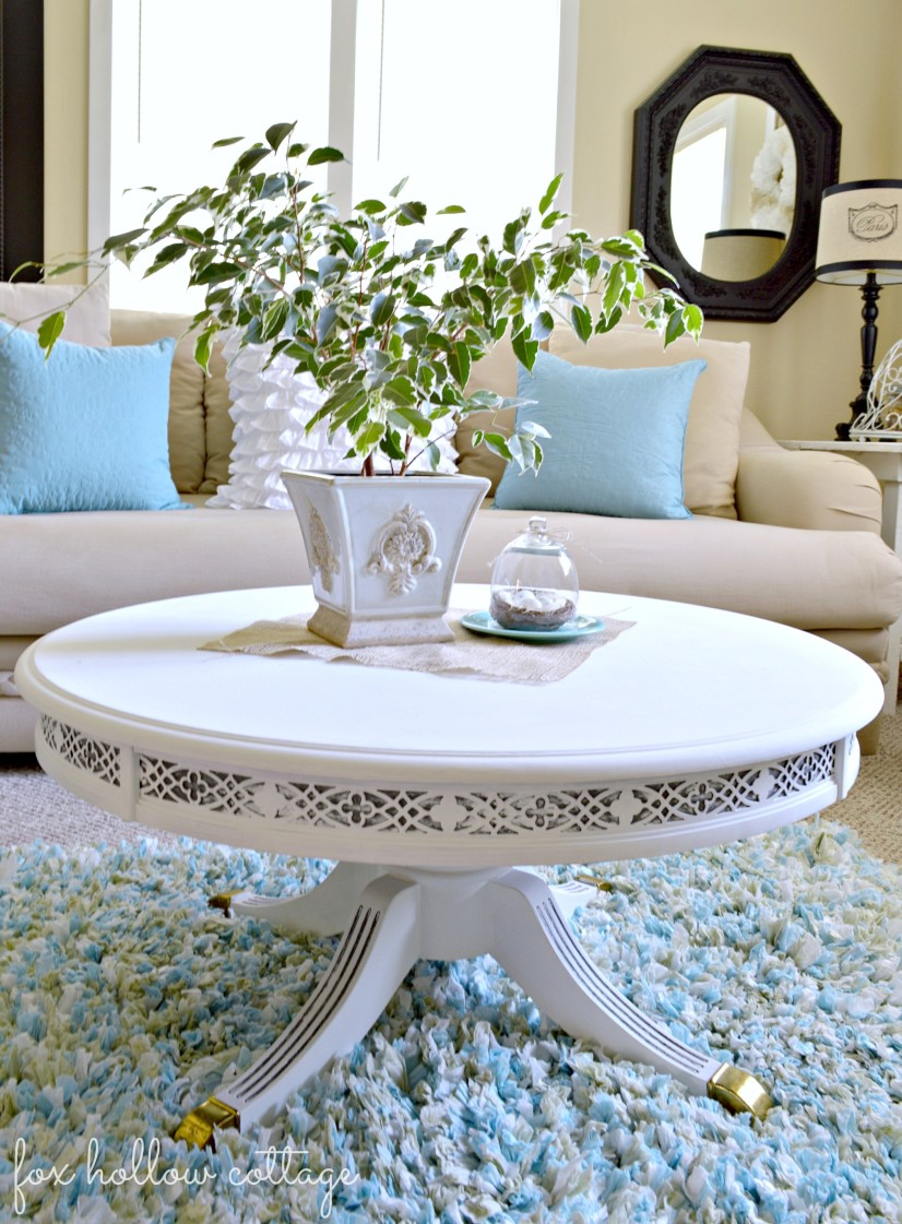 Duncan Phyfe table makeover at Fox Hollow Cottage