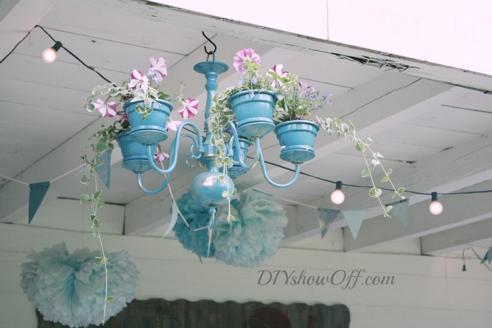 chandelier planter tutorial diy show off diy. Black Bedroom Furniture Sets. Home Design Ideas