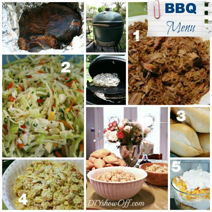 Summer BBQ Menu