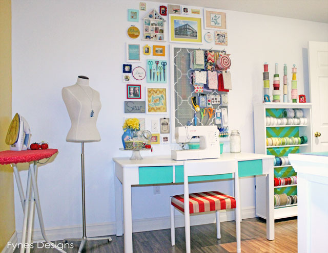 craft room reveal at Fynes Designs