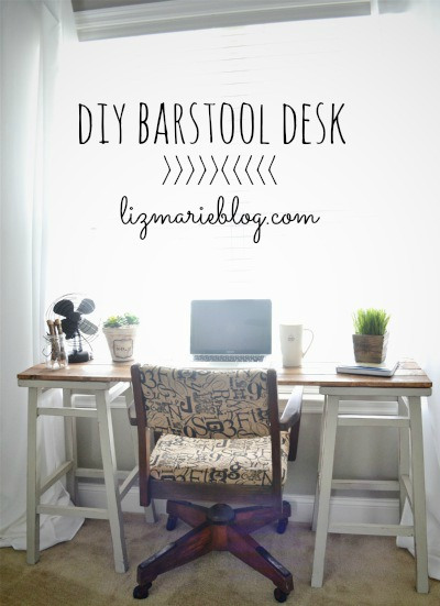 diy bar stool desk by liz marie blog