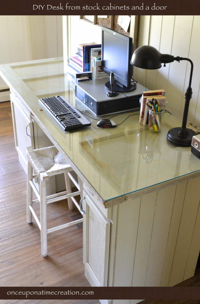 diy vintage door desk