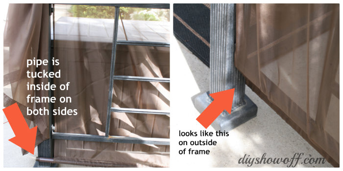 diy patio swing curtains