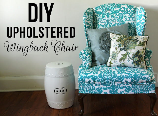 diy-upholstered-wingback chair