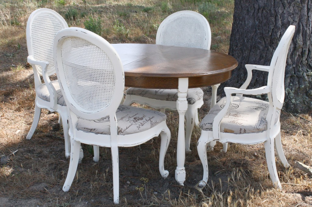 french country dining set makeover
