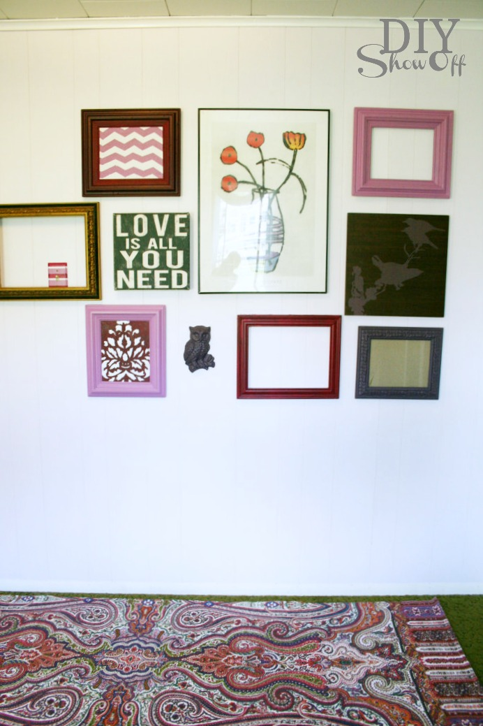gallery wall and area rug