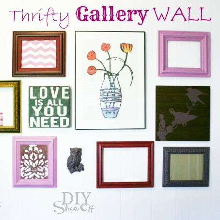 thrift store gallery wall