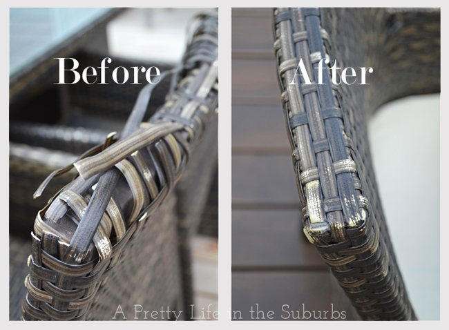 how to fix rattan furniture at A Pretty Life in the Suburbs