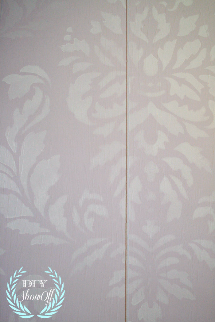 lilac and white damask