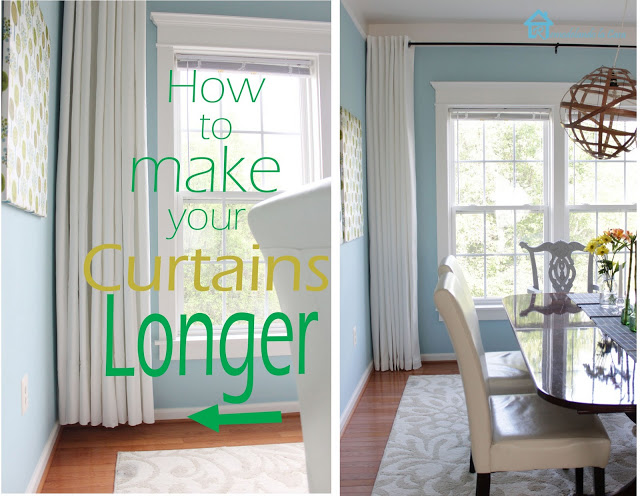 making curtains longer - Remodelando la Casa