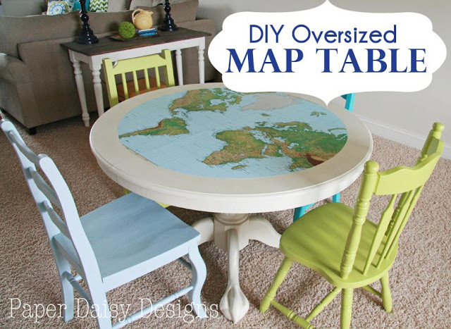 map table at Paper Daisy Designs