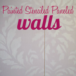painted stenciled paneled walls