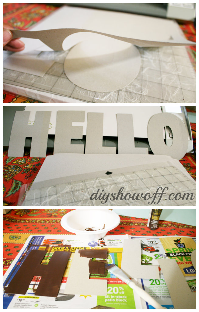 painting chipboard