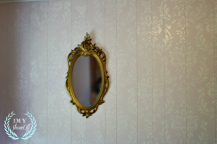 paneled damask walls