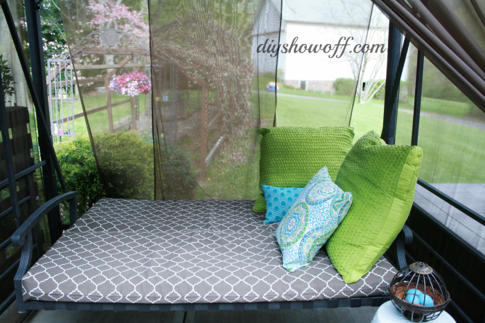 patio swing cushions