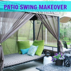 outdoor patio swing makeover