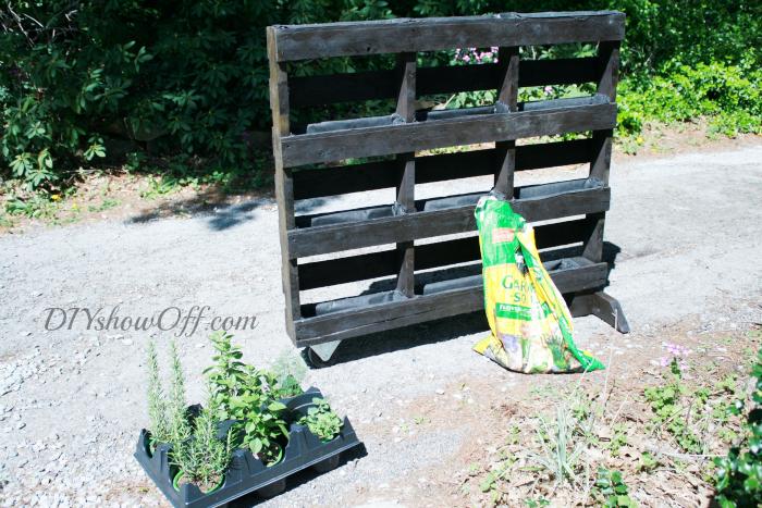 planting pallet garden