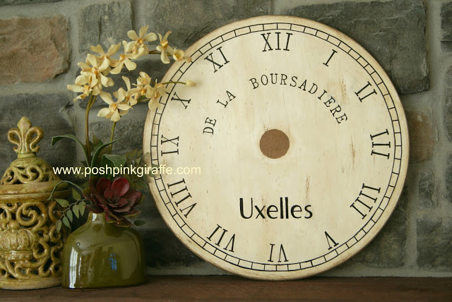 Pottery Barn inspired clock