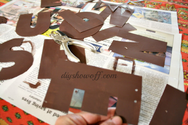 silhouette chipboard banner
