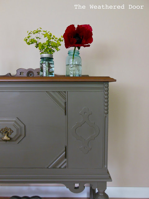 small antique buffet at the Weathered Door