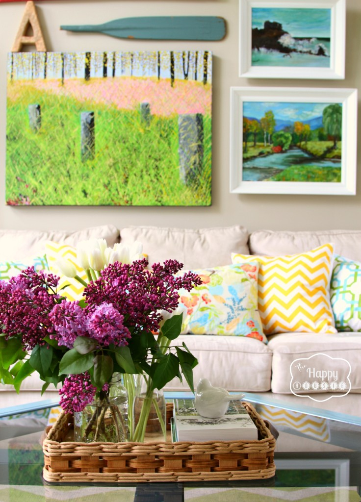 spring living room at The Happy Housie
