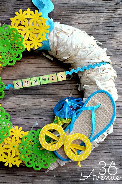 summer wreath at the 36th Avenue blog