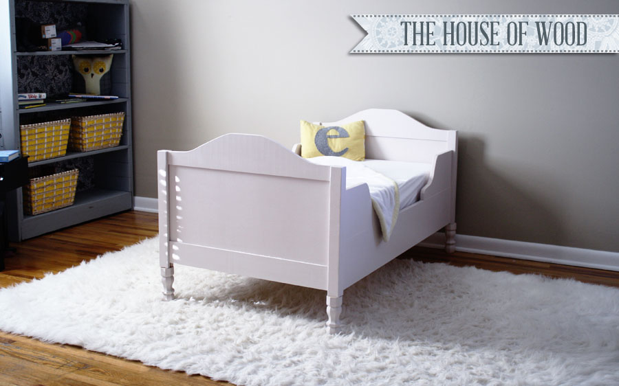 toddler bed tutorial at The House of Wood