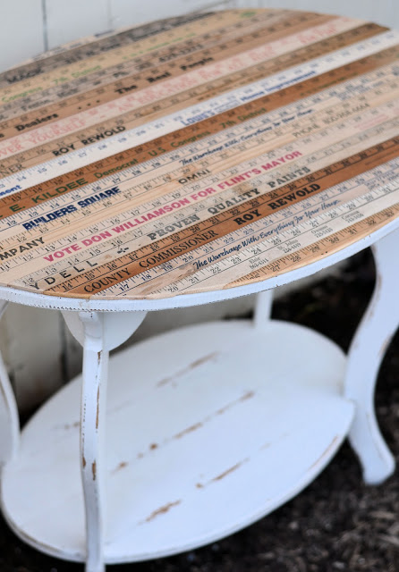 yardstick table by Vintage Mellie
