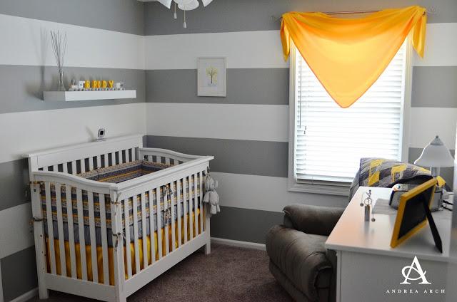 Arch striped nursery reveal