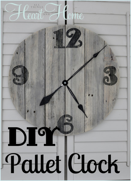 DIY-Pallet-Clock All Things Heart and Home