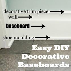 DIY baseboard trim tutorial