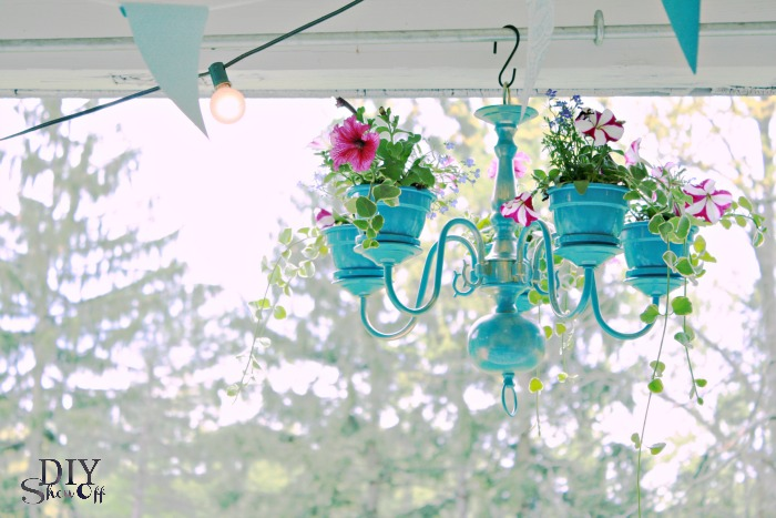 Chandelier Planter from DIY Show Off [Creative Planter Ideas at A Little Seed Grows]