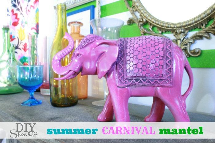 DIYShowOff summer carnival mantel