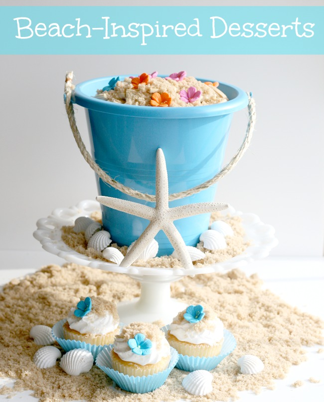 beach inspired desserts - Cupcakes and Crinoline